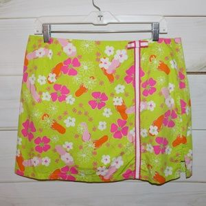 Vintage Lilly Pulitzer Green A-Line Skirt